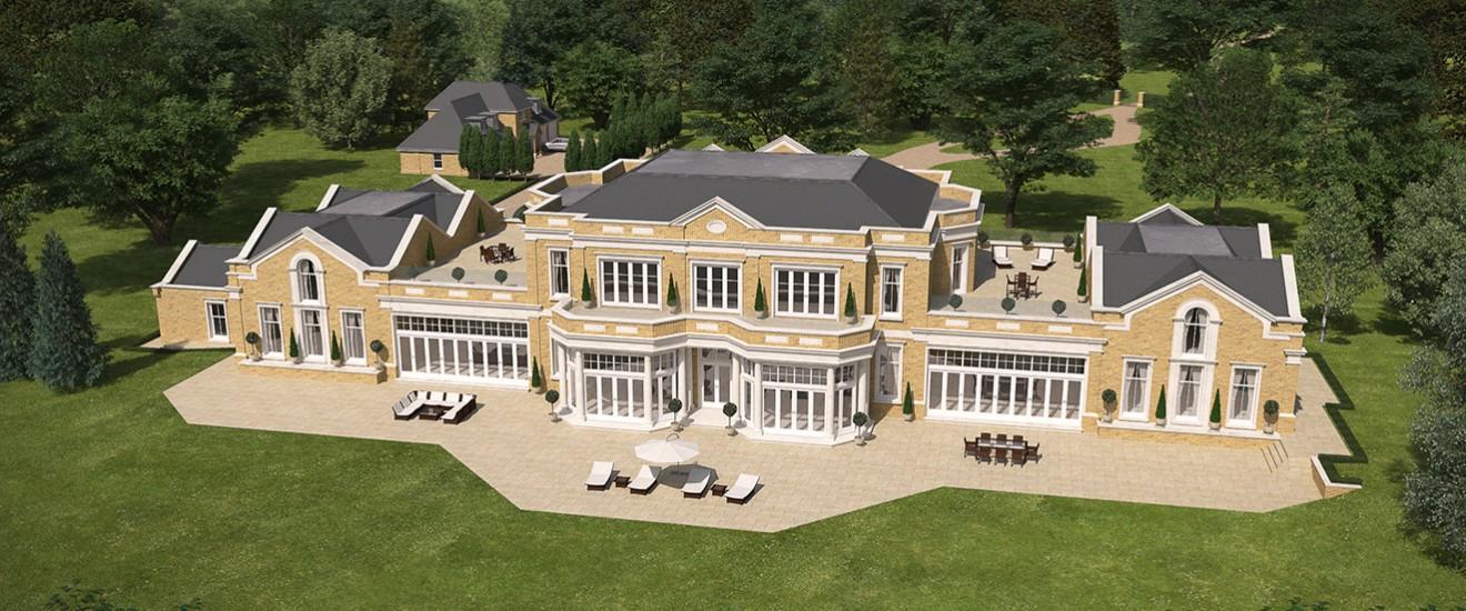 5 bed luxury property headley hants octagon properties for Modern luxury homes for sale uk
