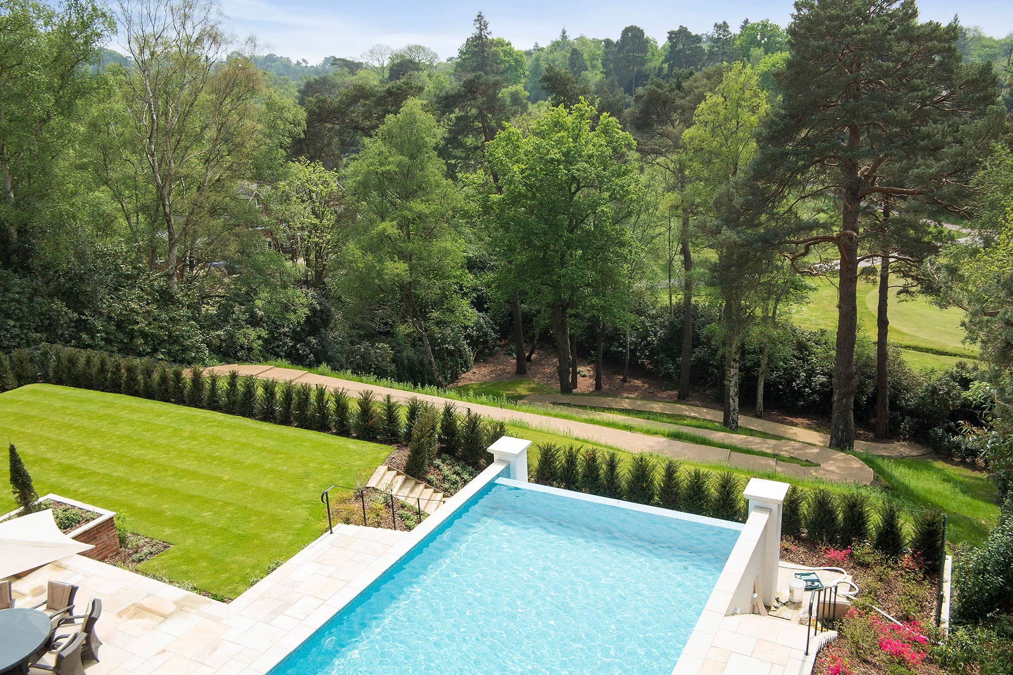 Luxury House With Swimming Pool St Georges Hill Octagon Properties Weybridge Kt13 0lx
