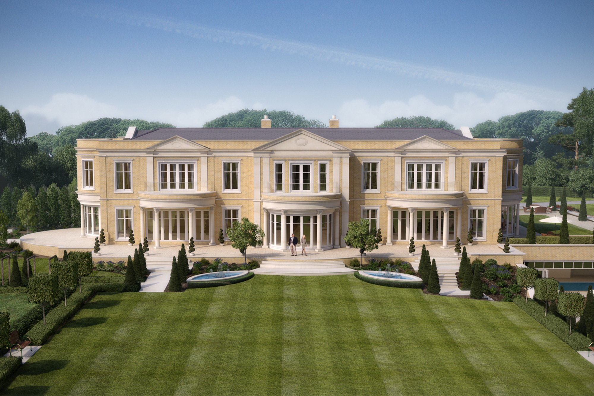 8 bed bespoke luxury home titlarks hill ascot for Castle style homes for sale