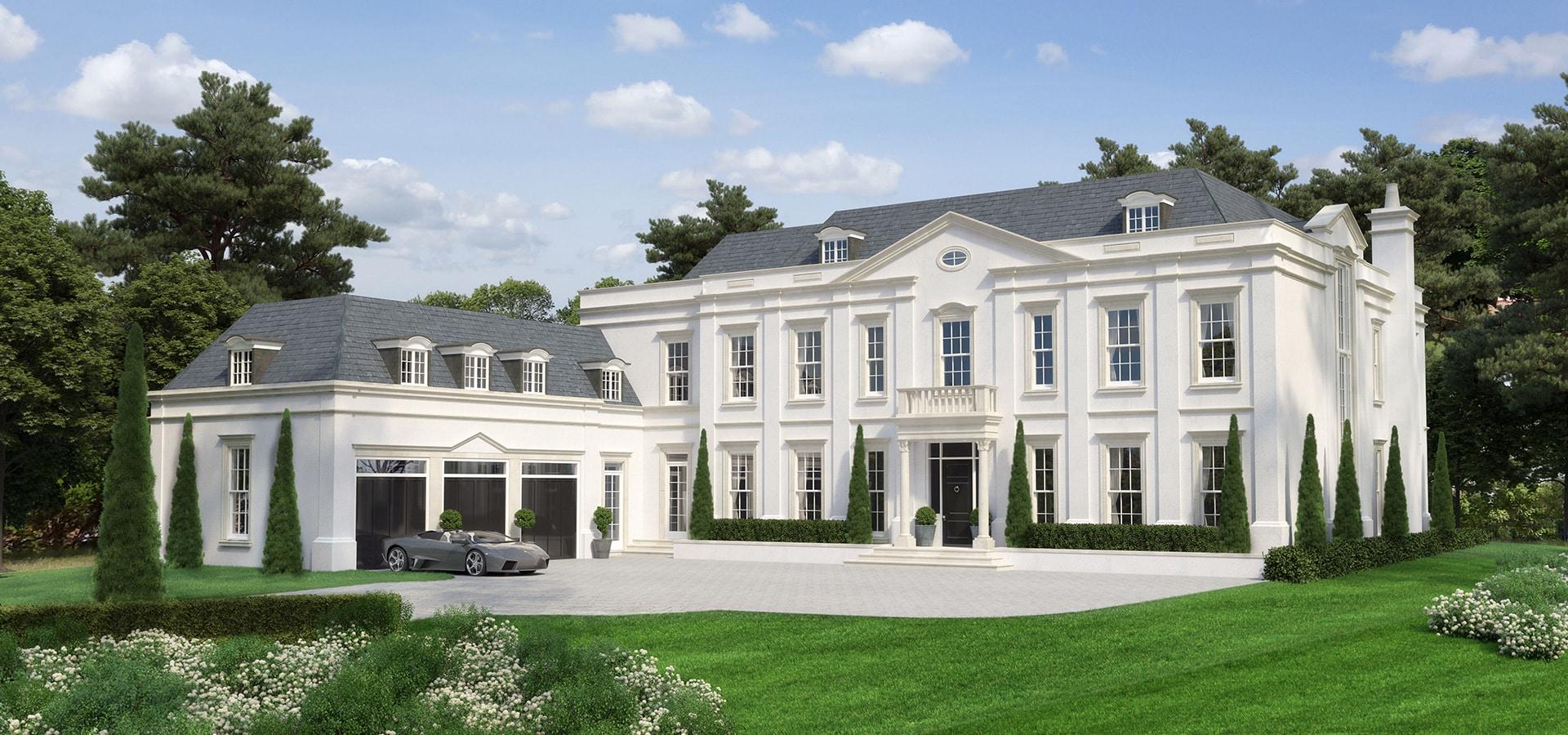 6 Bed Luxury Bespoke Property Weybridge Surrey Hillside