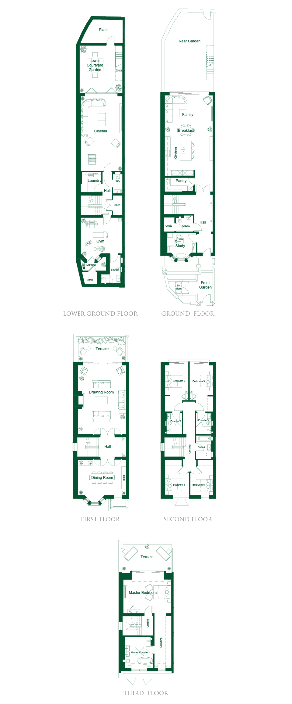 4 u0026 5 bed luxury new homes fulham london bishops row octagon
