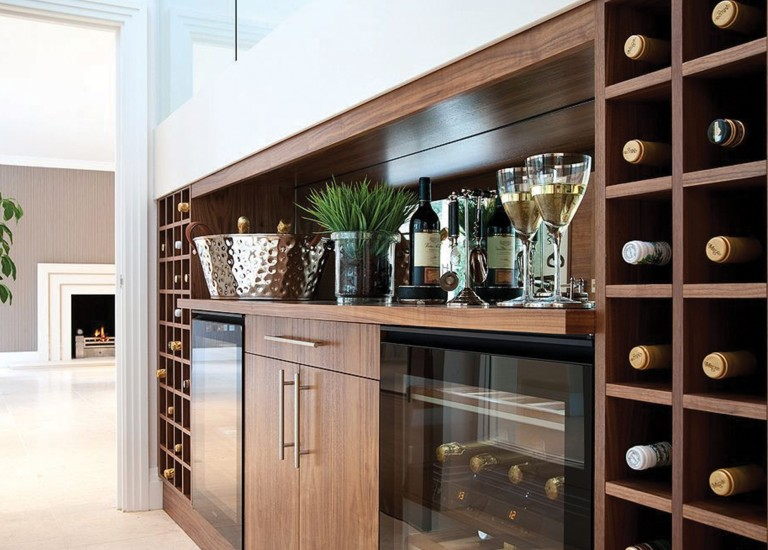 Wine Rack and Bar Area