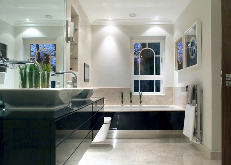 Bathroom Suite with His and Hers Basins