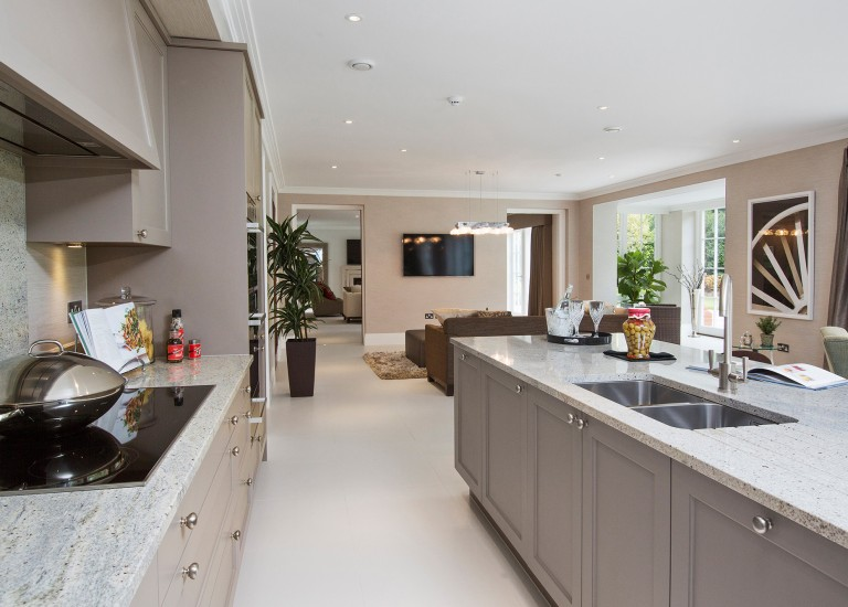 Lanercost Open Plan Kitchen with Stone Worksurfaces