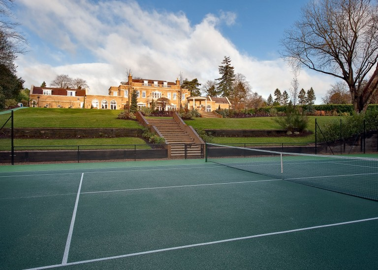 Tennis Court and Landscaping