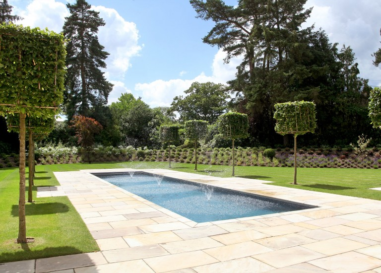 Landscaping and Water Feature Swimming Pool