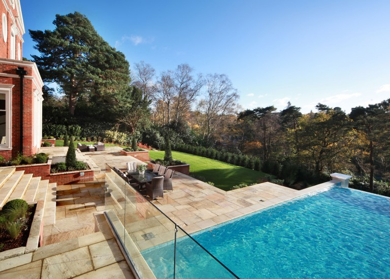 Garden Terrace, Landscaping and Infinity Swimming Pool