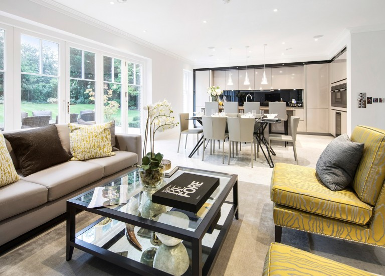 Open Plan Kitchen, Family and Dining Room