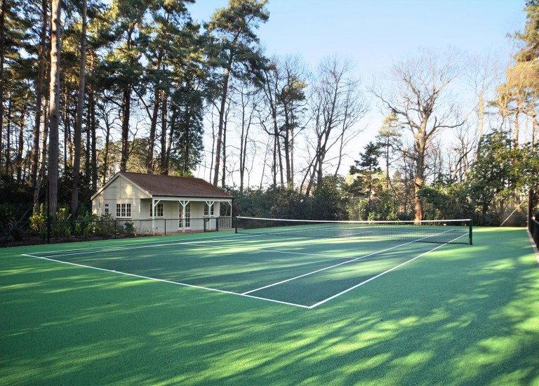 Tennis Court and Summer House