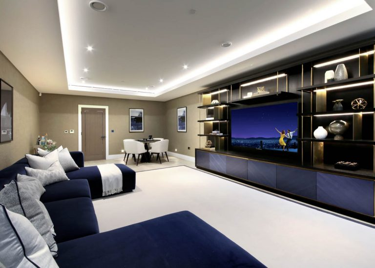 Cinema Room at Bishops Row in Fulham
