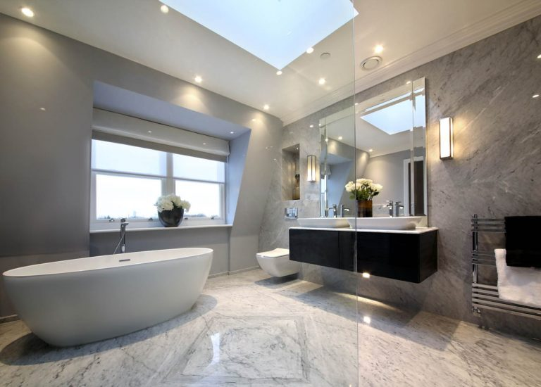 Marble Bathroom at Bishops Row in Fulham