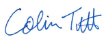 Colin Tutt's Signature